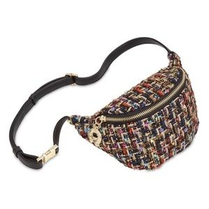 Betsy Johnson Plaid Get Waisted Tweed Fanny Pack
